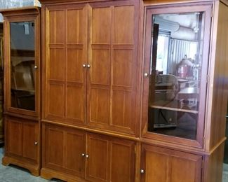 Stanley Furniture 4 piece unit. Two Glass curio sides or the interior piece which is a two piece unit (top and bottom)