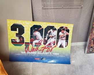 Signed Wade Boggs Poster