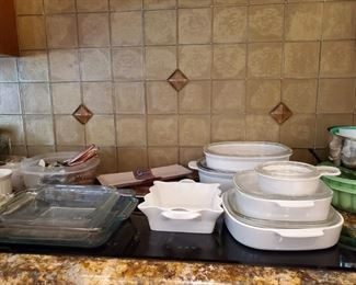 Nice clean Pyrex and Corning Ware