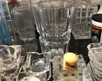 DECANTERS AND BACCARAT VASE
