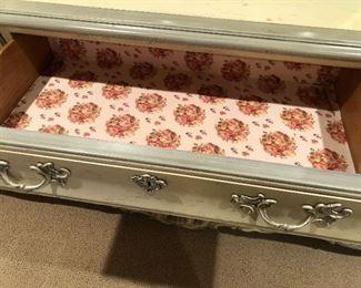 "Shabby chic french provisional maker ""Century"" 9 drawer dressers 75x19x33"