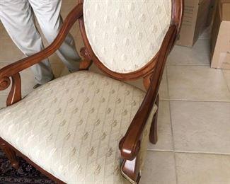 Lozenge back chair
