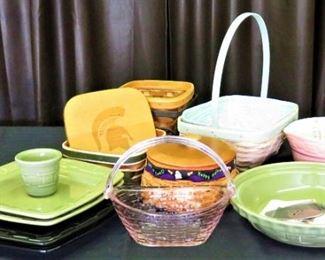 Longaberger Pottery, Fenton Glass, Hobnail
