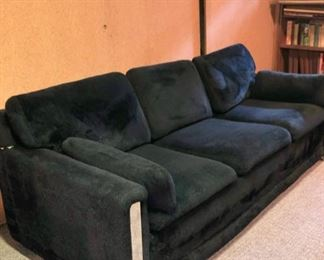 Vintage Rowe sofa with chrome