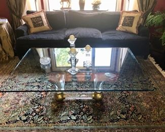 Vintage glass & Lucite coffee table