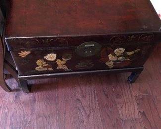 Lovely antique Asian chest with stand