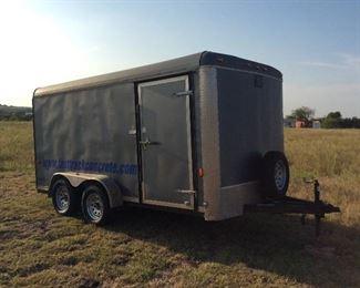 Enclosed trailer 14 x 7 cargo craft, bumper pull