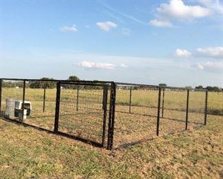 Large dog run, enclosure  24' x 24'