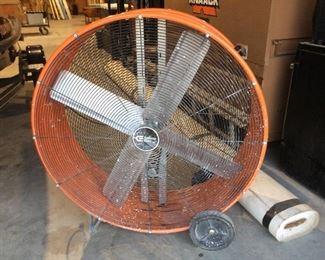 Large shop fan on wheels