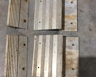 Aluminum ends for ramps. These attached to 2 x 6 boards to make One set of ramps