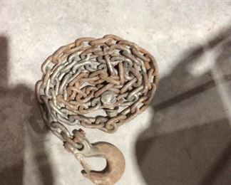 Chain with a hook at one end