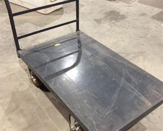 Four wheeled metal cart