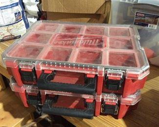Plastic Milwaukee storage boxes