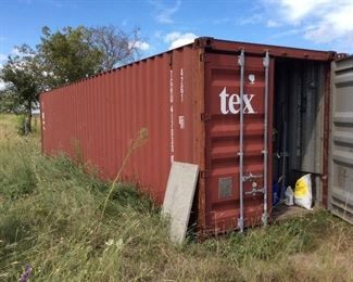 Shipping container, connex, 35 ft long