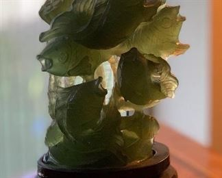 Chinese Jade Fish Statue