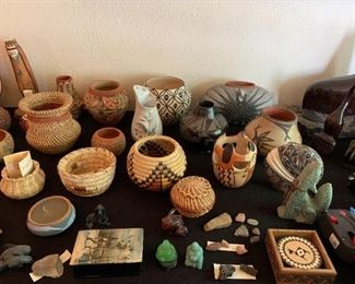 Lots of vintage Native American Art/Ceramics/Baskets