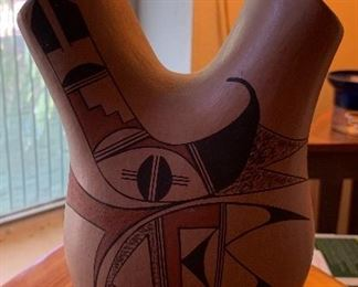 Jofeyn Navajo Wedding Vase Native American 10in