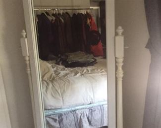 White full length standing mirror