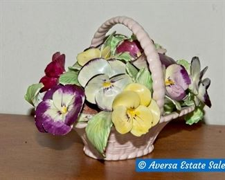 English Porcelain Floral Arrangement