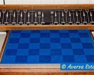 Mid Century Modern Austin Cox - Alcoa Aluminum Chess Set