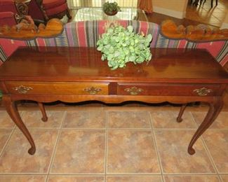Mahogany Double Drawer Console/Sofa Table
