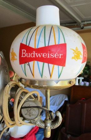 Vintage Budweiser wall lamp