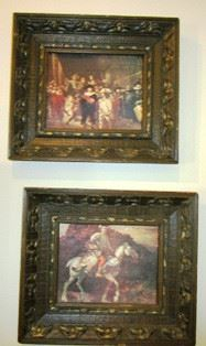 Rembrandt framed prints--The Night Watch, and Dutch Militia