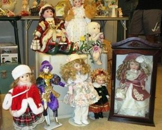 View of some of the dolls.