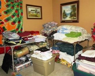 Picture of linens, etc.  There are a lot more.