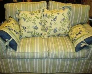 Love Seat, part of 3 pc. sofa set.  Sofa is not pictured. It is the same and this piece, but longer with 3 cushions