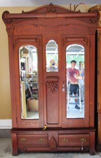 Antique 3-section Armoire