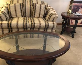 love seat and coffee table.  Also two matching end tables