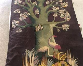 Silk Painting by Danel De Courval