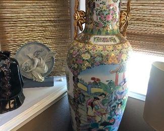 Large Chinese Flower Vase - 49 x 20