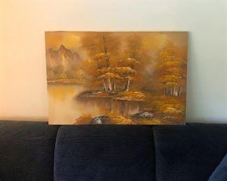 Painting of magic mushrooms