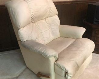 Pure white recliner ready to be walked down the aisle