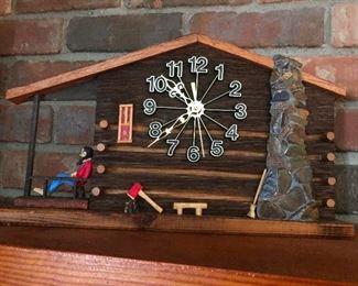 lumberjack clock