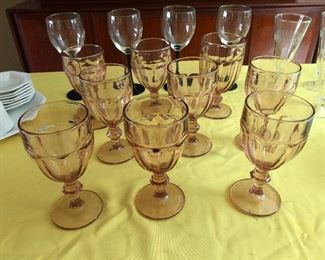 Contingent of wine glasses come to broker peace between warring tumblers