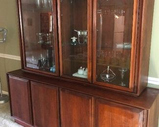 Cool MCM Dillingham china cabinet and buffet
