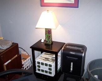PAPER SHREDDER,  LAMP & MISC.