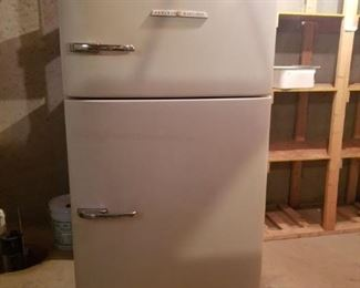Late 1940s early 1950s fridge.  It is very heavy and downstairs so please bring dolly and a lot of muscle!!!