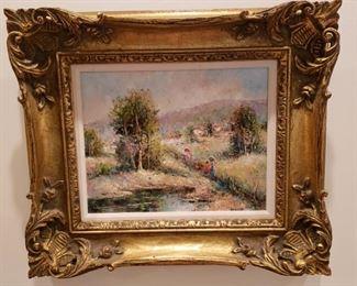Arango framed oil painting on canvas