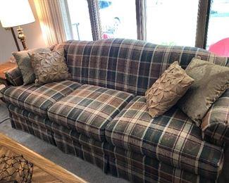 Very nice plaid sofa
