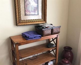 Campaign pine bookshelf