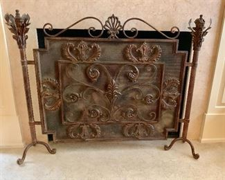 Ornate fire screen
