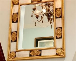 Gilded federal style mirror