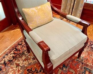 Hickory Chair custom upholstered arm chair