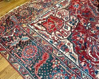 "Ahar Heriz rug detail. 9'9"" x 13'5"""