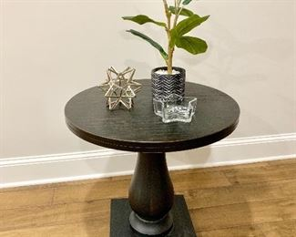Pedestal base side table