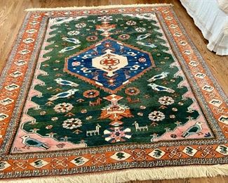 "Ardebil rug.  7'3"" x 6'9"""